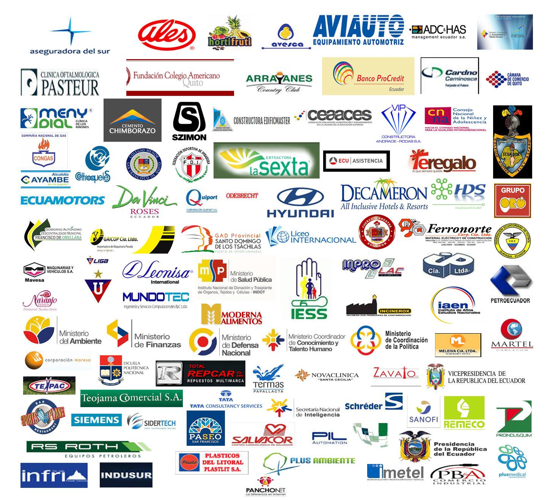Nuestra cartera de Clientes Aseguradora del Sur, Ales, Clinica Pateur, Arrayanes, Banco ProCredit, Cámara de Comercio de Quito; Presidencia de la República entre otras importantes.