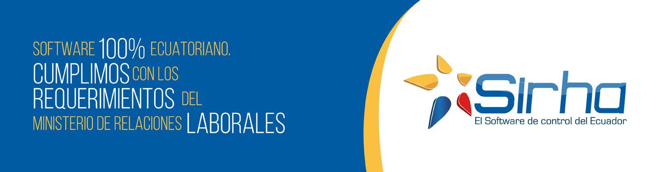 Sirha Software del Ecuador de Control de Asistencia y Acceso para Empresas.