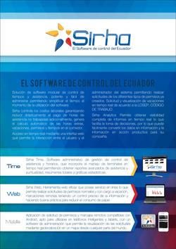 Descarga folleto con características del Software de Control Sirha del Ecuador